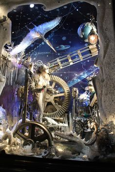 These @Bergdorfs Christmas #window displays are out of this world! #decor