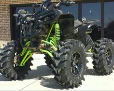 Don't care for the tires too much but this is a beautiful four wheeler