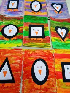 πιγκουίνοι σχήματα Kindergarten Art, Preschool Crafts, Crafts For Kids, Diy Crafts, Weather Activities For Kids, January Art, Artic Animals, Winter Project, Shape Crafts