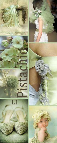 Amazingly delicate collage ~ Pistachio mood.