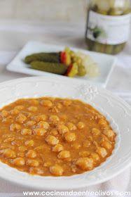 Cocinando entre Olivos: Potaje de garbanzos y calabaza. Receta paso a paso
