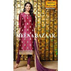 Violet Chanderi Salwar Suit
