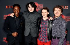 The Stranger Things boys photographed at the Stranger Things season 2 premiere. (10.26)