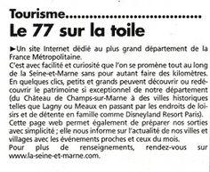 Article paru dans l'hebdomadaire La Marne - Le 14 Juillet 2004