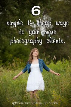 Want to know how to get more photography clients? Read on to learn 6 simple and cheap ways to build your photography client base! - The Photographer's Dream House #photographypricing