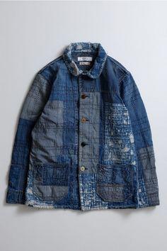 Men's Denim, Denim Style, Denim For Men, Textiles, Denim Patchwork, Work Jackets, Denim Outfit, Boro, Western Shirts