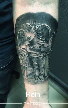Tattoo Ruslan Polyakov - tattoo's photo In the style Black and grey, Male, Differe