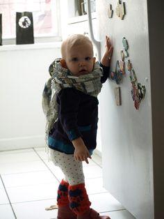 Dress, Egg by Susan Lazar Scarf, Brooklyn Industries Tights, Gap Leg Warmers, Bobo Choses Boots, Kickers