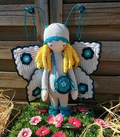 butterfly mod made by Betty D. / crochet pattern by lalylala
