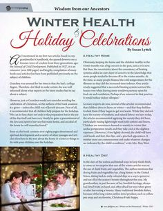Wisdom from our Ancestors: Winter Health and Holiday Celebrations—By Susan Lyttek - Molly Green - Winter 2015-2016 - Page 50-51