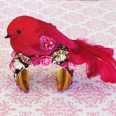 {Bird Cuff Bracelet Swarovski Crystal}