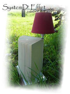 Book light  #Books, #Lamp, #Light, #Upcycled