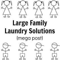 In a large family, laundry is mega-sized. In this mega post on large family laundry solutions you'll find systems that work! Laundry Solutions, Laundry Hacks, Laundry Rooms, Big Family, Family Life, Family Closet, Happy New Home, Best Mom, Have Time
