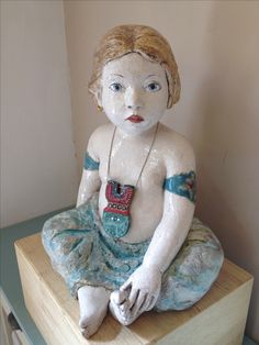 Geglazuurde chamotte klei door Nieneke lamme