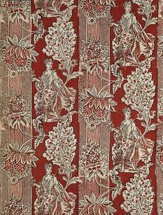 Printed fustian | about 1720-1750 Alsace, France. block-printed, madder-dyed cotton