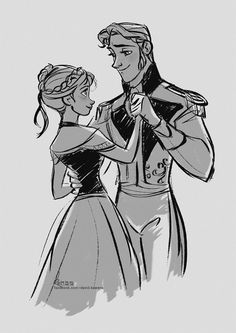 Anna and Hans <3 *SPOILER* Even though he's evil, I still think these two are the best together.