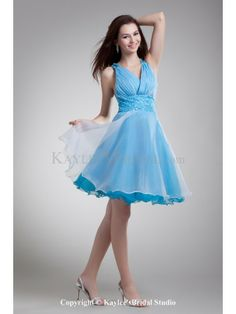 Organza V-Neck Short A-Line Sequins Cocktail Dress Event Dresses 6aae645eae90
