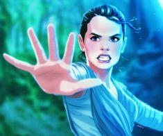 Rey Awakens by EddieHolly, Kylo Ren, Rey, Reylo, Star Wars