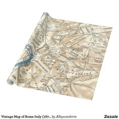 Vintage Map of Rome Italy (1870) Wrapping Paper
