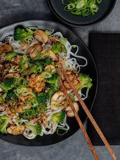 Recipe: mushroom broccoli pan on rice noodles - ABOUT FUEL recipe: mushroom . - Recipe: Mushroom Broccoli Pan on Rice Noodles – ABOUT FUEL Recipe: Mushroom Broccoli Pan on Rice - Mushroom Broccoli, Rice Recipes For Dinner, Vegetarian Recipes, Healthy Recipes, Beef Recipes, Easy Recipes, Chicken Recipes, Asian Recipes, Ethnic Recipes