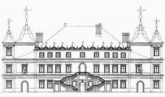 Reconstruction of the Villa Regia Palace in Warsaw, the palace was built by Matteo Castelli between 1626 and 1639 for Ladislaus Vasa