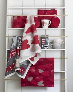 Sydän Kitchen Towel | Pentik Christmas 2017 | Heart kitchen towel