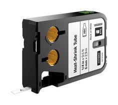 """DYMO - XTL™ 1868809 Heat Shrink Tube Labels (6 mm) - Black on White - 1/4"""""""""""