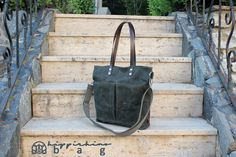 Orzo with Mushrooms, Scallions and Parmesan - New Ideas Thick Leather, Leather Handle, Brown Leather, Teacher Bags, College Bags, Waxed Canvas, Everyday Bag, Crossbody Shoulder Bag, Large Tote