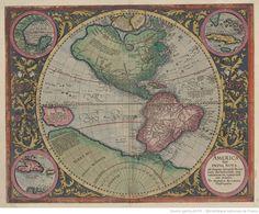 America sive India nova ad magnae Gerardi Mercatoris avi universalis invitationem... Michael Mercator and Gerard Mercator. 1631