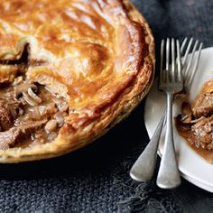 Steak and Guinness pie! And the recipe is from Waitrose - I shopped there all the time when I lived in London