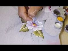 Crochet Tape Lace Tutorial 5 part 1 of 2 Crochet Motifs Oil Painting Pictures, One Stroke Painting, Acrylic Painting Techniques, Painting Videos, Painting Tips, Fabric Painting, Fabric Art, Fabric Paint Shirt, Tole Painting Patterns