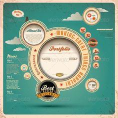 Retro web design.  - GraphicRiver Item for Sale