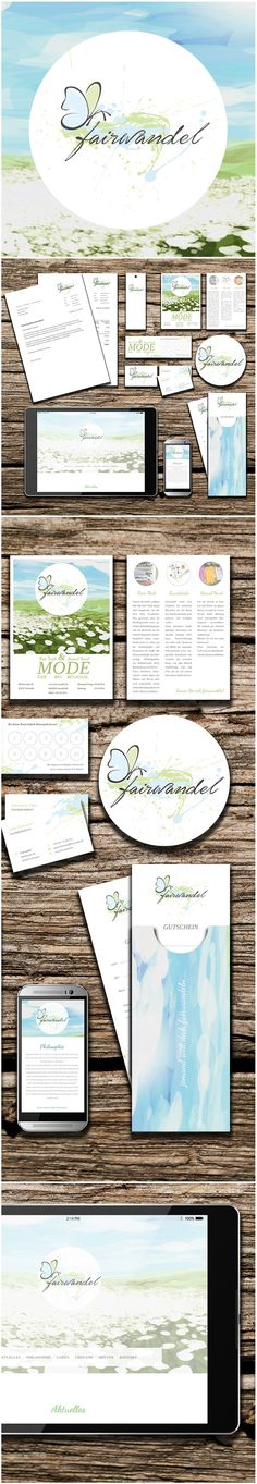 corporate design for a fairtrade shop in eichstätt. For more information, check out http://www.fairwandel.de