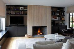 sleek, modern living room