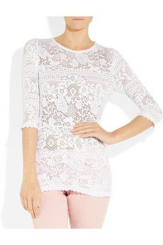 White stretch-lace Scalloped trims, three-quarter length sleeves Slips on viscose, polyamide; Ralph Lauren Collection, Pink Jeans, Lace Jacket, Powder Pink, Stretch Lace, Lanvin, Isabel Marant, How To Wear, Jackets