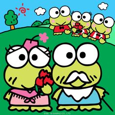 Keroppi is so excited to spend Grandparents' Day with his family today! Sanrio Characters, Cute Characters, Fictional Characters, Keroppi Wallpaper, Character Creator, Pochacco, Beautiful Nature Wallpaper, Cutest Thing Ever, Little Twin Stars