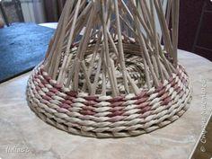 Мастер-класс Поделка изделие Плетение кашпо или ваза и как я ЭТО делала Трубочки бумажные фото 15
