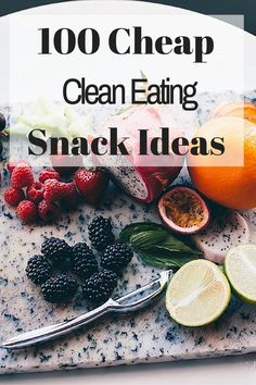 I love these quick, easy and cheap clean eating snack ideas. Number 28 is one of my favorites for a quick sweet snack! frametofreedom.co...
