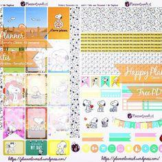 Al fin mis stickers de Snoopy!!! 😍💜 Disponibles para su descarga gratuita sólo a través de mi blog 👉 https://plannerloverscl.wordpress.com __ Finally, my Snoopy stickers!!!! 💜😍 Available now only in my blog!