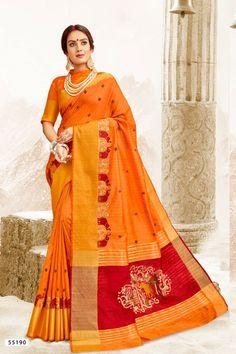 835f5b9182 Salmon color silk Indian wedding saree 932 in 2019   Indian Wedding sarees    Saree, Silk sarees, Saree wedding
