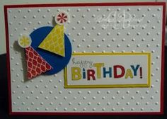 Stampin' Up! - Bring on the Cake with Pennant Parade stamp also.