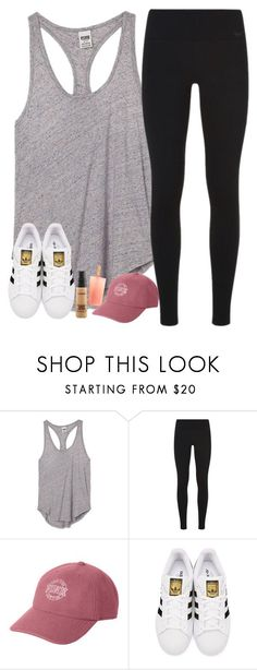 ⏳ by southernstruttin ❤ liked on Polyvore featuring Victorias Secret PINK, NIKE, Victorias Secret, adidas Originals and MAC Cosmetics