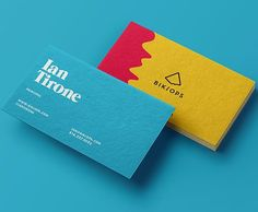 Jeff Immer and Ian Tirone designed these business cards for their digitally-minded branding agency named Biklops. Business Card Design Inspiration, Business Design, Branding Agency, Logo Branding, Logos, Strange Music, Painting Edges, Design Agency, Brand Identity