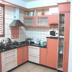 New Kitchen Cabinets Design Ideas Layout Appliances Ideas Moduler Kitchen, Kitchen Room Design, Modern Kitchen Cabinets, Smart Kitchen, Kitchen Cabinet Design, Interior Design Kitchen, Kitchen Furniture, Kitchen Decor, Small House Plans