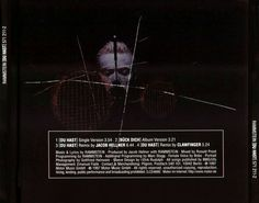 Rammstein - Du Hast (You Have) Single 1997 Back Cover