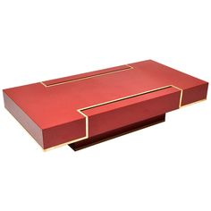 "RARE ""Maison Jansen"" Red Lacquer Coffee Table 