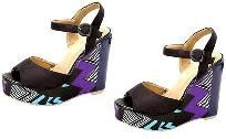 Free Shipping- NEW WOMENS' PLATFORM WEDGE SANDALS Black SHOES. SIZE 7.5