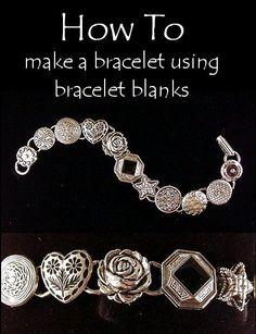 DIY How to make a bracelet with bracelet blanks