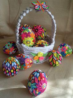 quillingové vejce