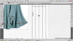 Model uygulamalı etek 27 / The model applied pattern skirt 27